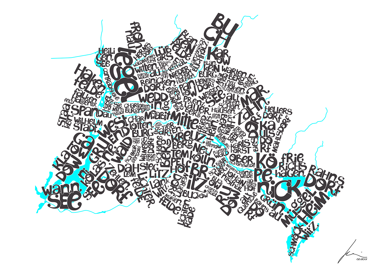 Typography City Map Berlin Motionesquemotionesque